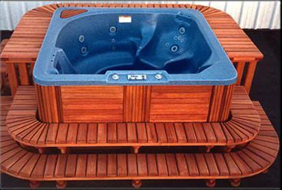 Spa surrounds, redwood spa surrounds, hot tub surrounds, custom ...