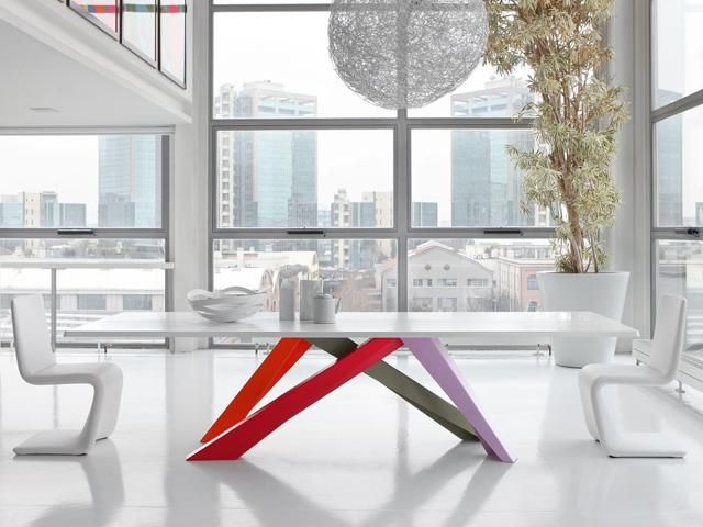 Big Table gambe colorate | Brand : Bonaldo _ SESTO SENSO ...