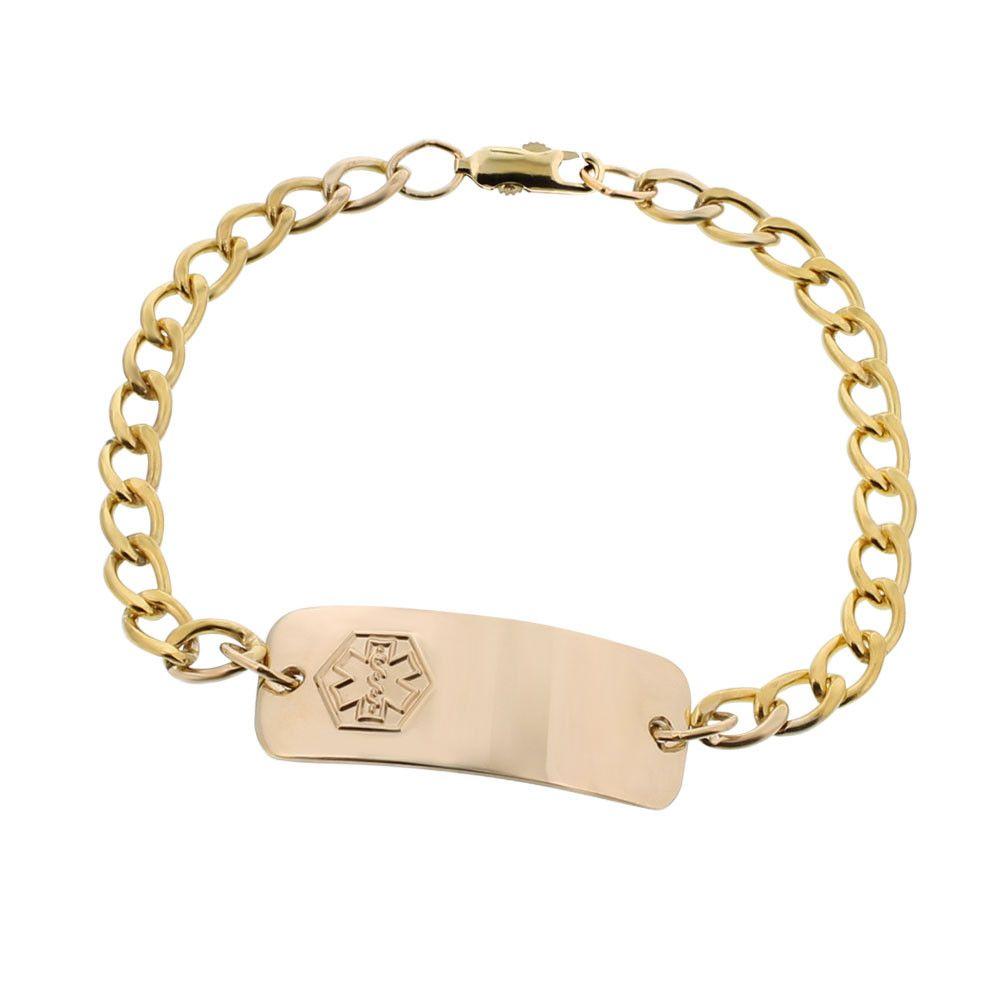 10k Gold Filled Classic Petite Bracelet Medical Id Bracelets Classic Bracelets Id Bracelets