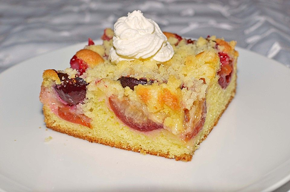 Pflaumenkuchen mit Streuseln Rezept Pflaumenkuchen mit