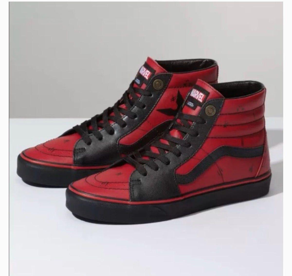 Vans x Marvel Sk8-Hi Deadpool Shoes on