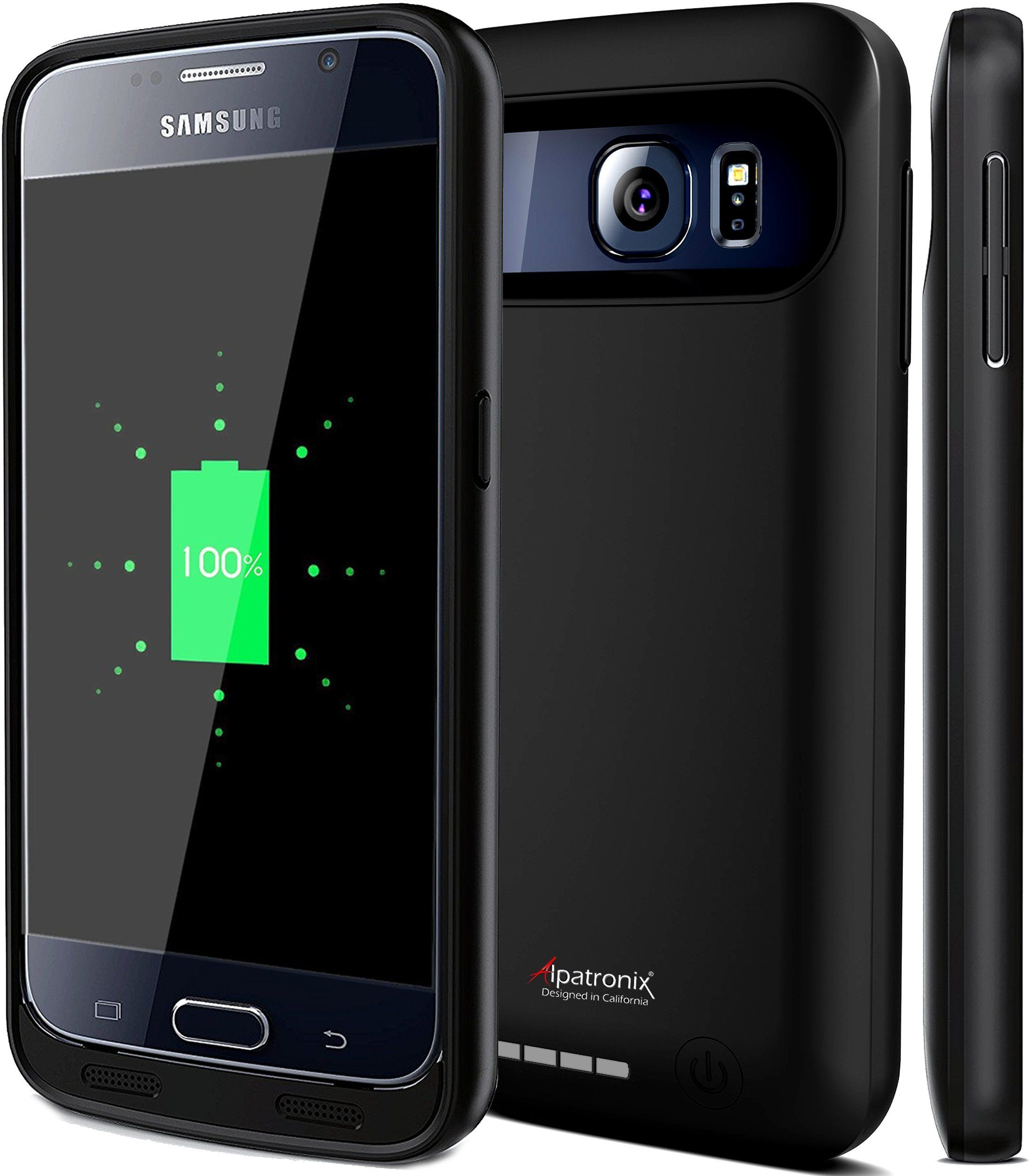 Galaxy s6 capacitive buttons the android soul - Galaxy S6 Battery Case Alpatronix Bx410 3500mah Slim External Protective Removable Rechargeable Portable Charging Case
