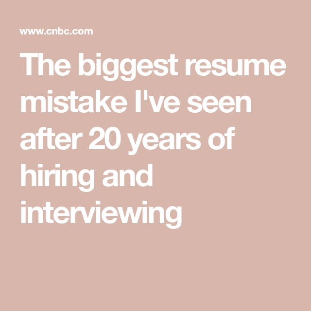 After 20 Years Of Hiring I Refuse To Look At Resumes That Have This Common Yet Outdated Section Job Search Tips Resume Career Planning
