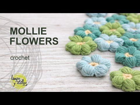 Tutorial Mollie Flowers Crochet in English | VIDEOS GANCHILLO Y ...