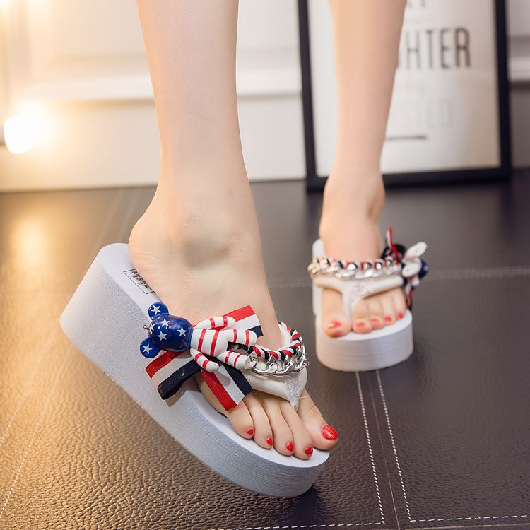 2b170df1a8c8c5 Summer Women Flip Flops Mules Clogs Wedge Cartoon Sandals Garden Handmade  Iron Ring Slippers Jelly Color