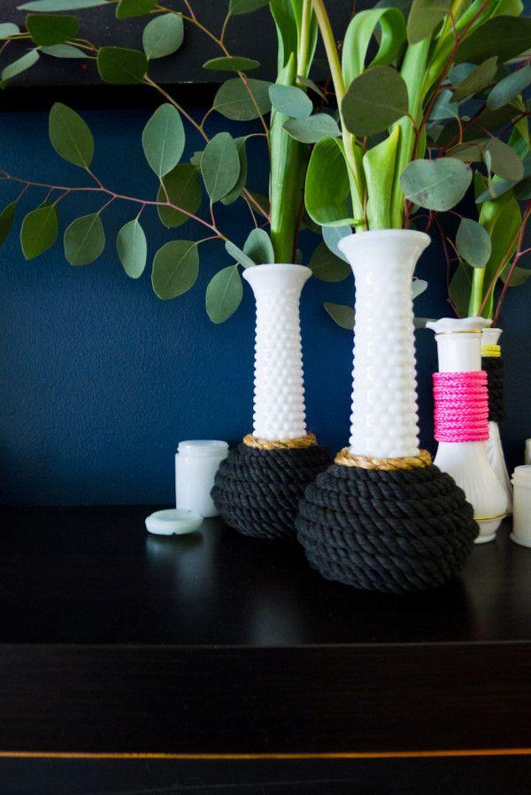 Diy How To Give Milk Glass Vases A Modern Update Modern Milk