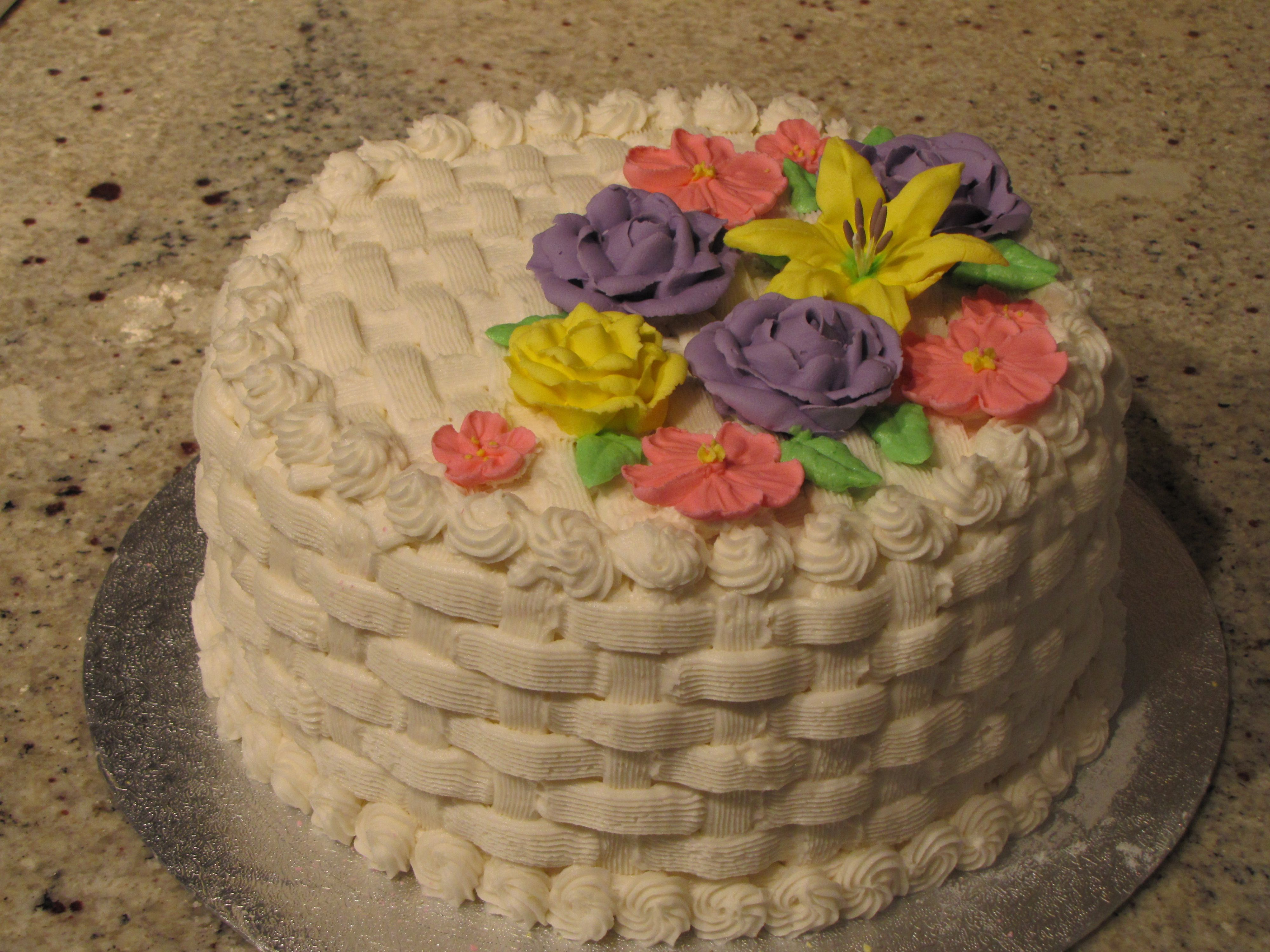 basket weave cake basket weave cake with flowers things to try 1510