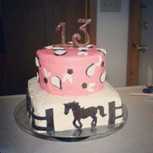 Love this one horse cake 13th birthday cake teen girl cake My
