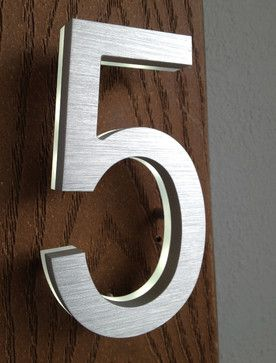 Modern House Number Led Address Sign Modern House Numbers Other Metro By Surrounding Modern House Number Modern House Numbers Sign Led House Numbers