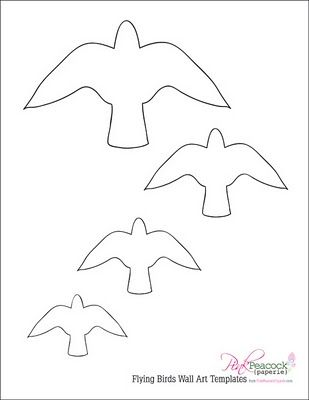 flying birds template pinterest diy projects diy and projects