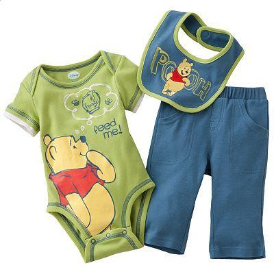 BNWT Baby Boys Disney Winnie The Pooh Bodysuit Vests 7 Pack Gift Set 12-18 Mths