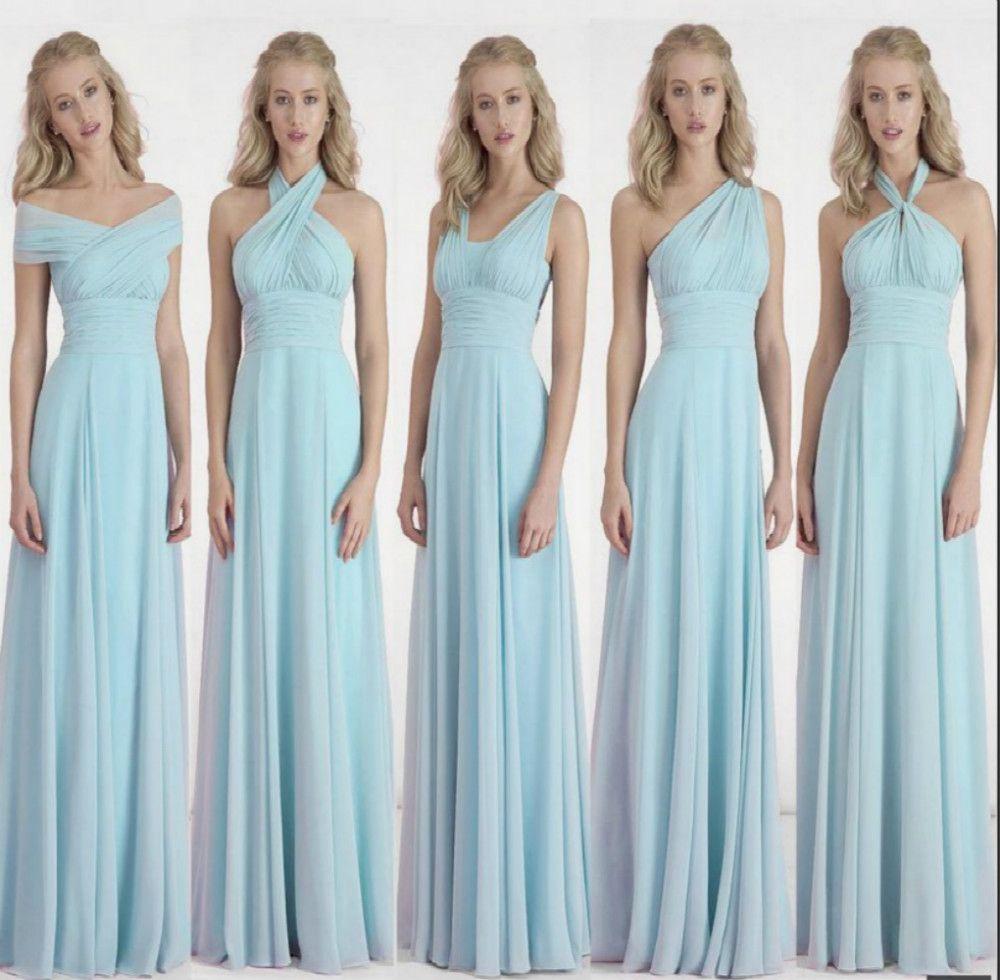 Elegant Chiffon A-Line Long Bridesmaid Dress   Bridesmaid Dresses ...