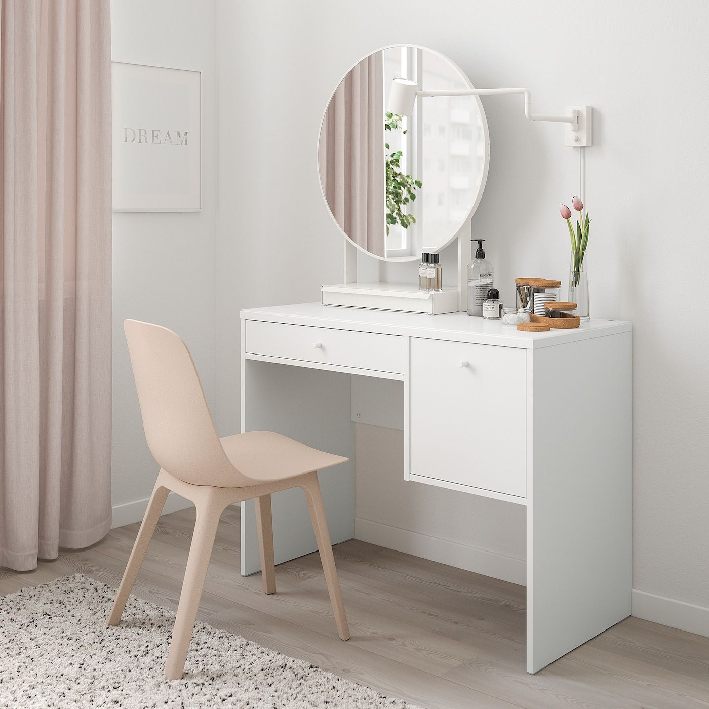 SYVDE Dressing table, white - IKEA