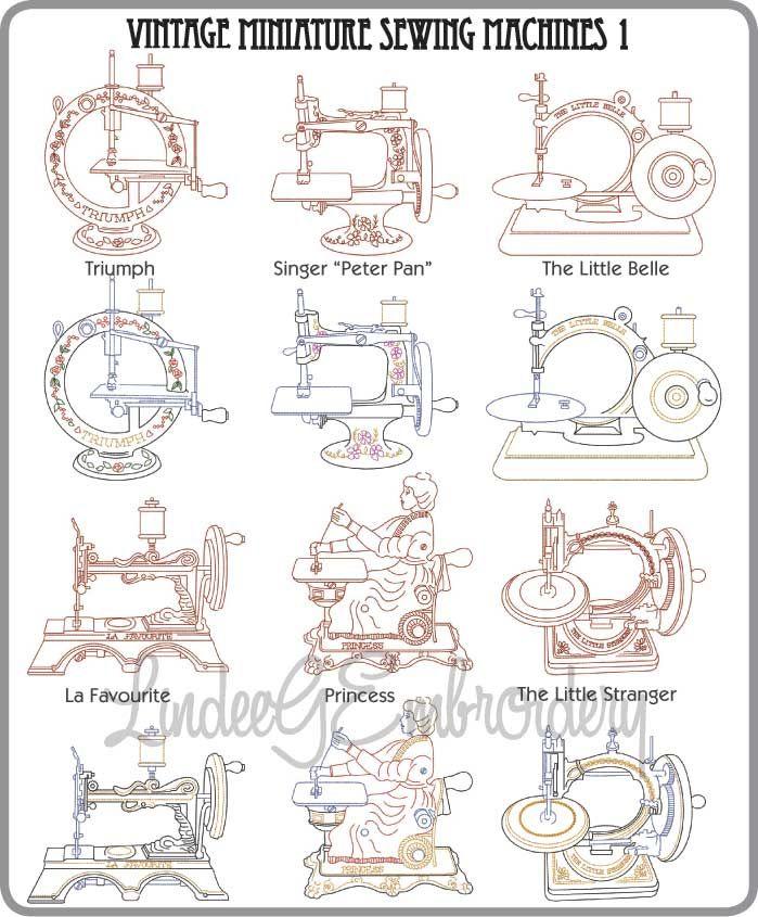 Vintage Sewing Machine Embroidery Designs Hand Machine