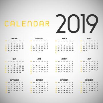 Celebration Calendar 2019 Stylish 2019 Calendar, 2019, 2019 Calendar, Calendar PNG and