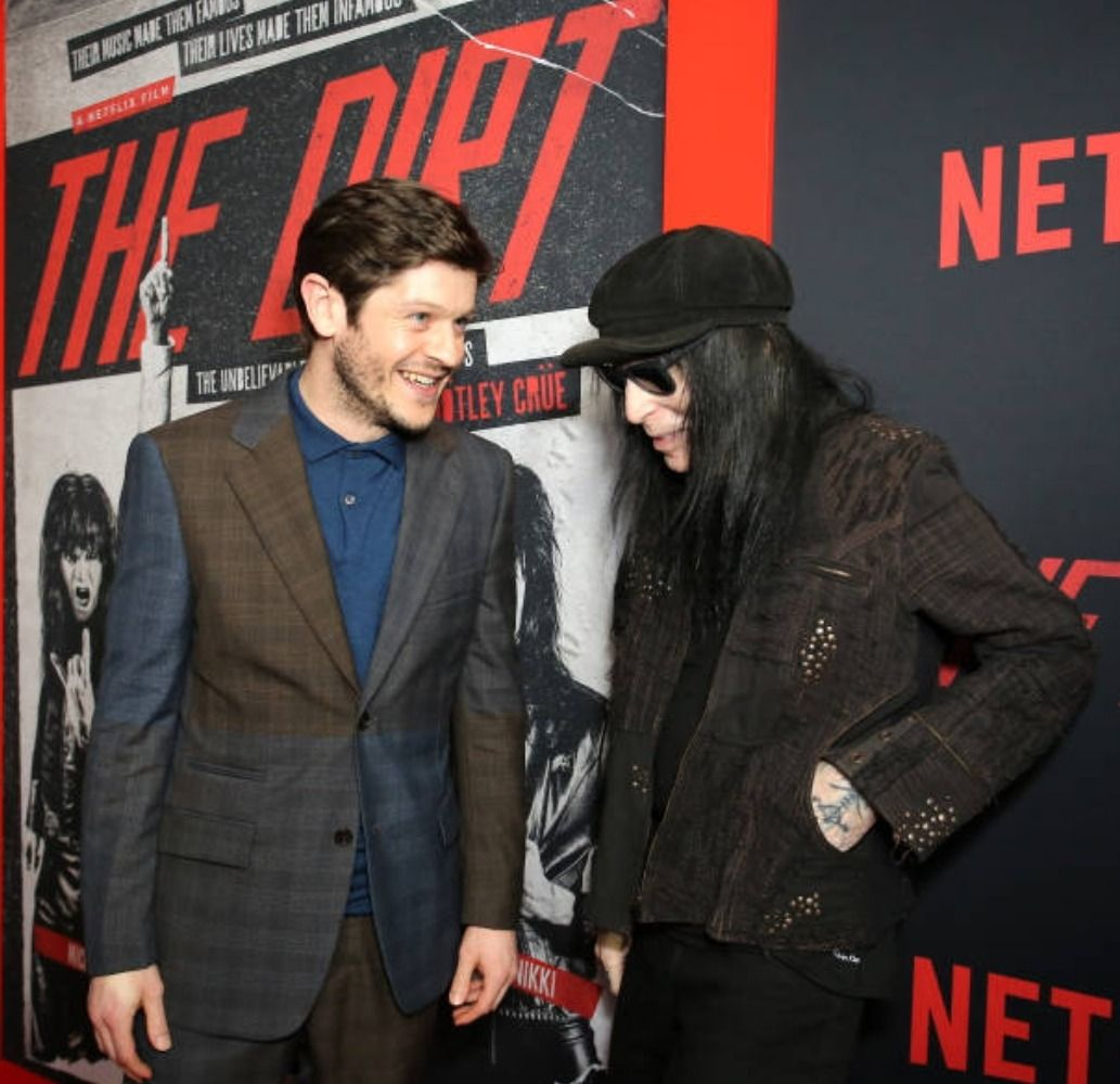Iwan At The Los Angeles Premiere Of The Dirt Iwan Rheon Mick Mars Dirt The Movie