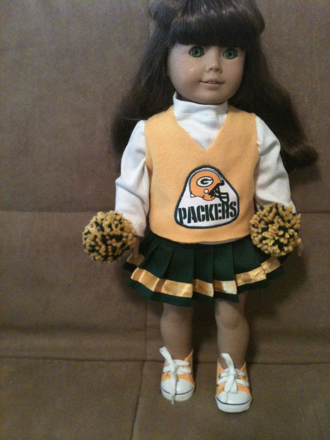 18 inch doll (modeled by American Girl) Green Bay Packers Cheerleading outfit with shoes #18inchcheerleaderclothes 18 inch doll (modeled by American Girl) Green Bay Packers Cheerleading outfit with shoes. $25.00, via Etsy. #18inchcheerleaderclothes 18 inch doll (modeled by American Girl) Green Bay Packers Cheerleading outfit with shoes #18inchcheerleaderclothes 18 inch doll (modeled by American Girl) Green Bay Packers Cheerleading outfit with shoes. $25.00, via Etsy. #18inchcheerleaderclothes 18 #18inchcheerleaderclothes
