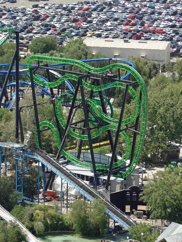 Green Lantern 4th Dimension Six Flags Magic Mountain With