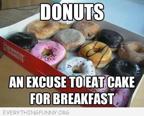 Everything Funny Donut Humor Breakfast Cake Food
