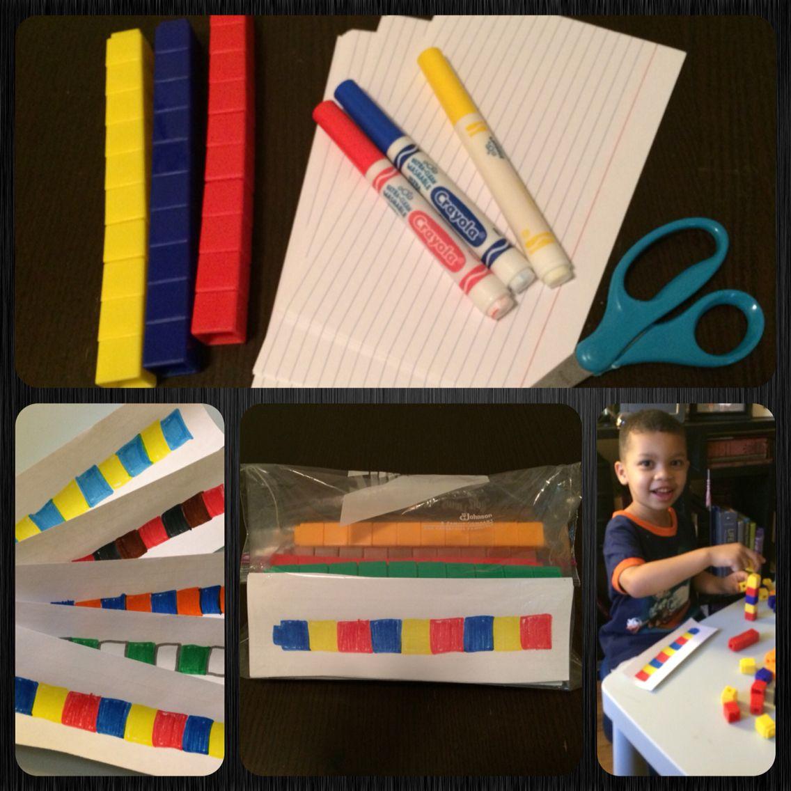 Simple Diy Unifix Cube Pattern Cards My Kis Love Them