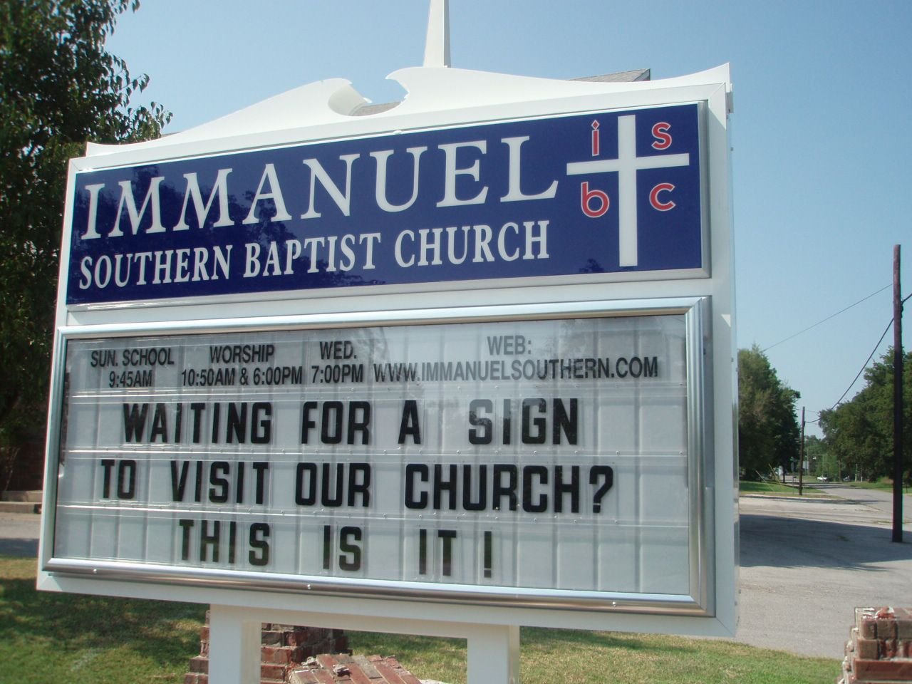 Church Sign Quotes Pleasing Image Detail For New Church Sign In Place « Immanuel Southern