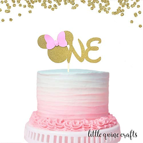 91 Minnie Mouse 1st Birthday Cake Decorations Minnie Mouse 1st Birthday Cake Deco Minnie Mouse Birthday Cakes Birthday Cake Toppers 1st Birthday Cake Topper