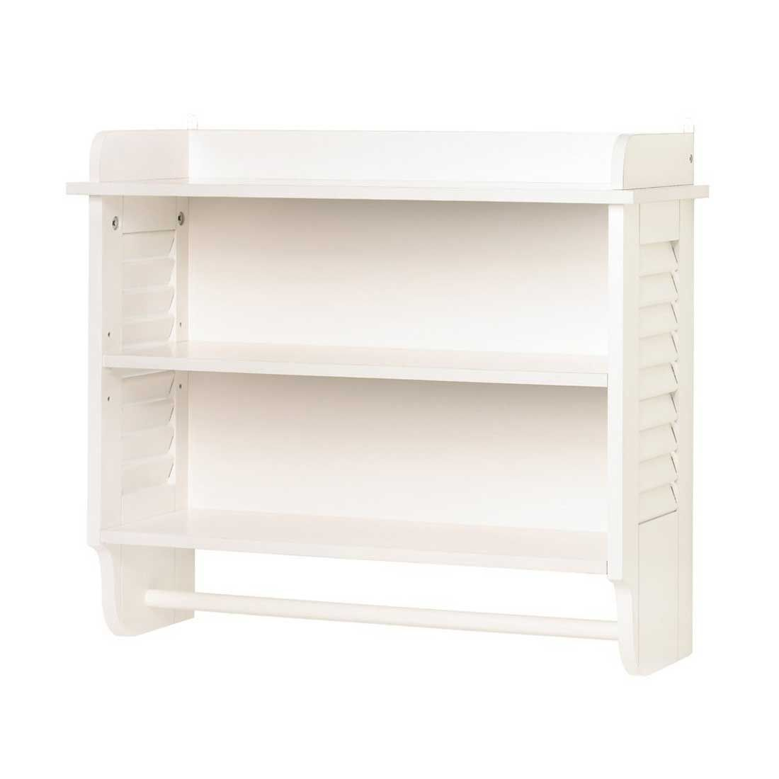 Gifts & Decor Nantucket White Wall Towel Shelf Holder for Home ...