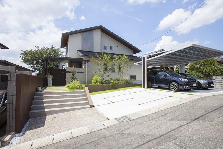 家を演出するファサード 福岡のエクステリア 外構 外溝 工事