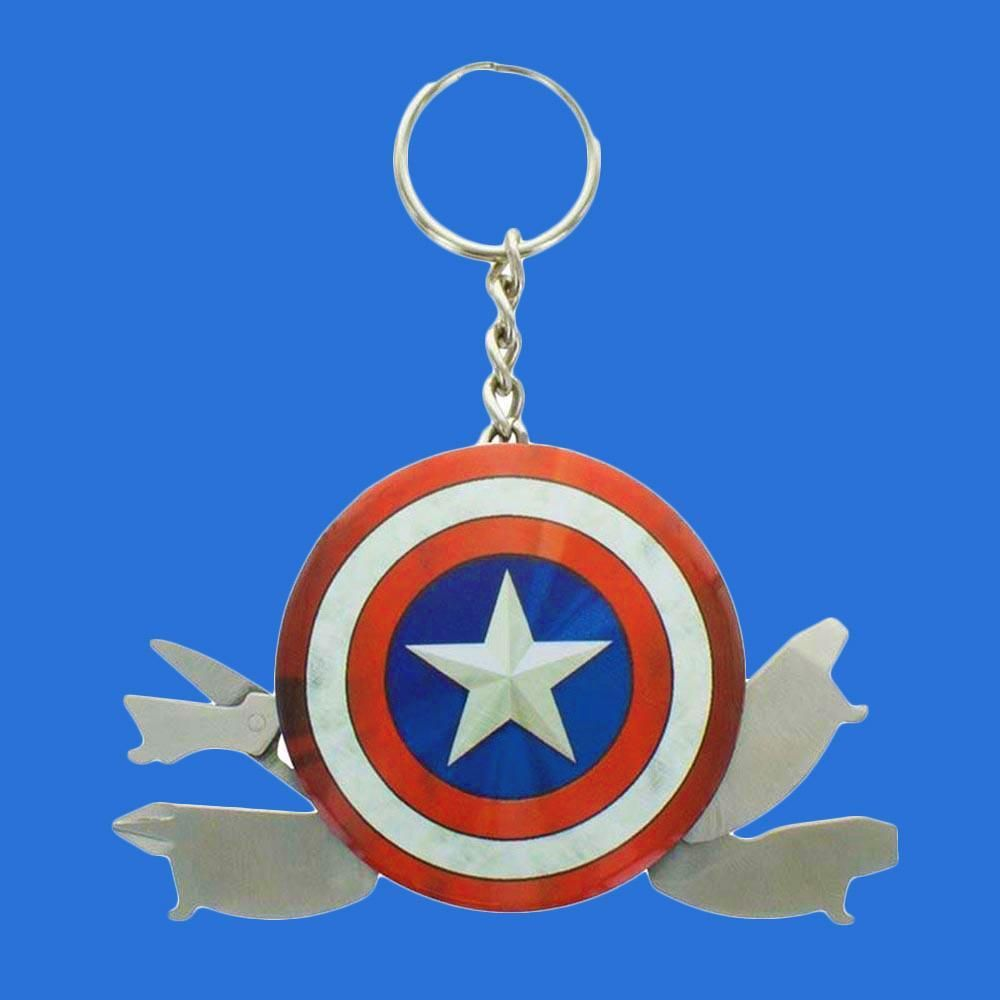 Anime Avengers Model Captain America Keychains