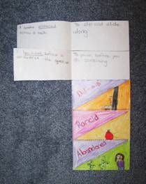 Vocabulary foldable and directions for using it
