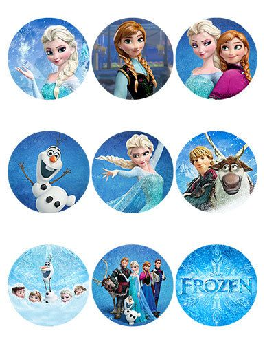 picture relating to Printable Frozen Pictures referred to as Personalized Frozen Printable labels - Sheet of 9- 2.5 inch Spherical