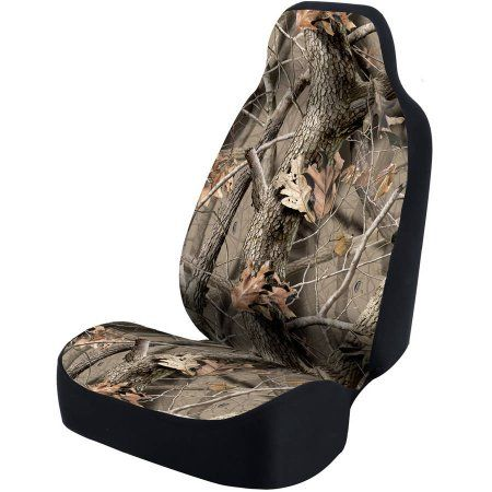 Coverking Universal Seat Cover Designer, Ultra Suede Real Tree Hardwoods, Brown