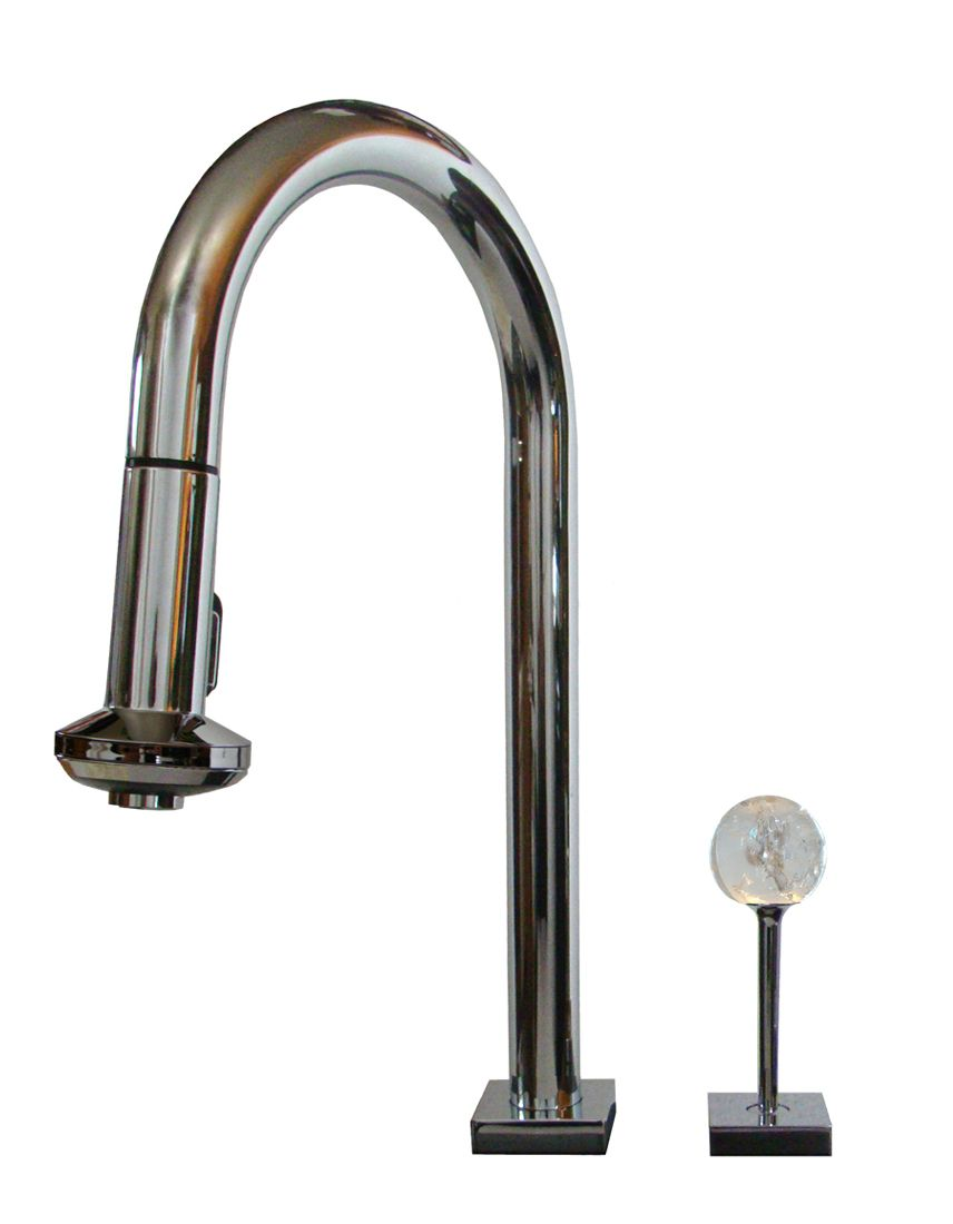 Pull out kitchen faucet with gemstick handle by Myterra | MYT-KF-1C-CRQZ
