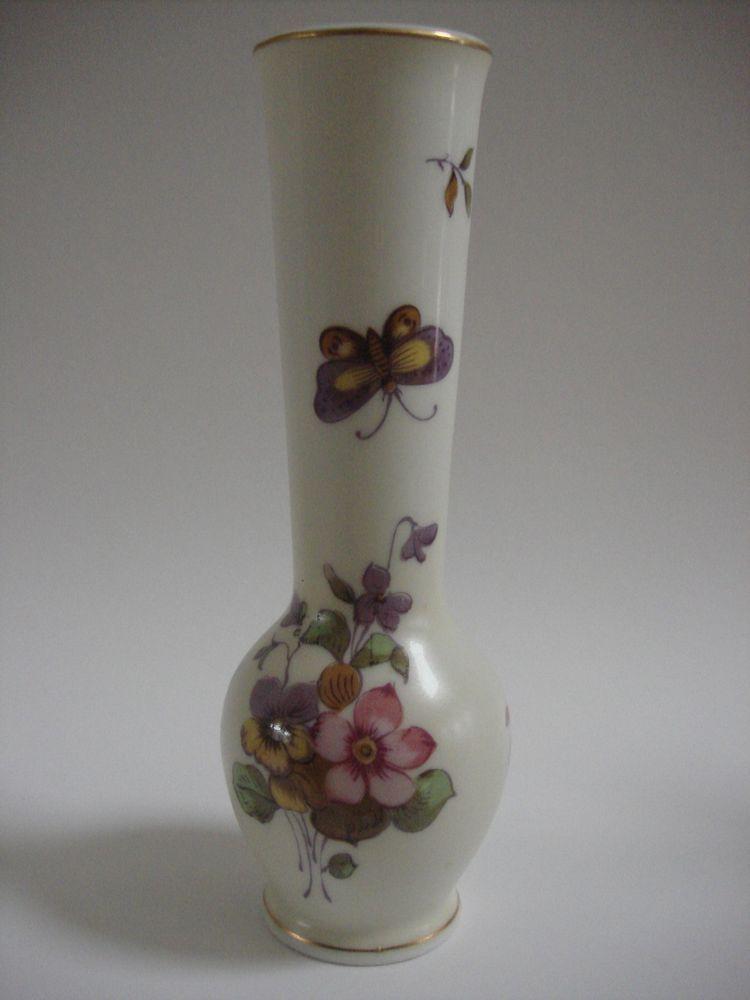 Lefton China Vase 6 12 Tall Marked Lefton China 697 Purple