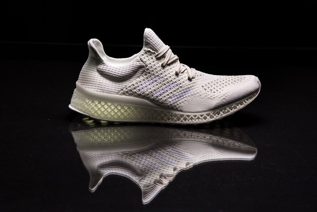 new product 65252 628a0 A shoe made with Adidas Futurecraft 3D-printed midsole technology.