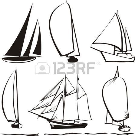 Silhouettes des voiliers en 2019 id e d co mariage dessin de voilier voilier et dessin mer - Voilier dessin ...