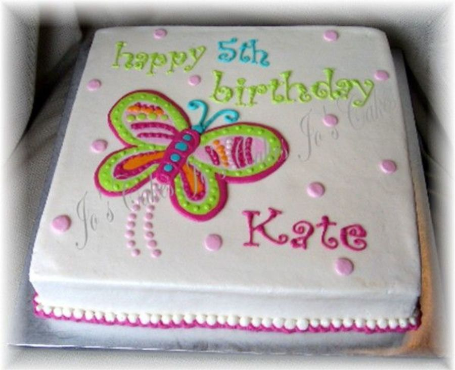 Birthday cakes with butterfly decorations