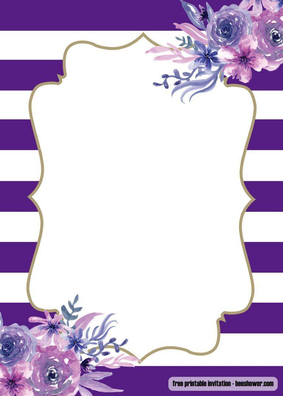 Free Lavender Purple Baby Shower Invitations Design Visit