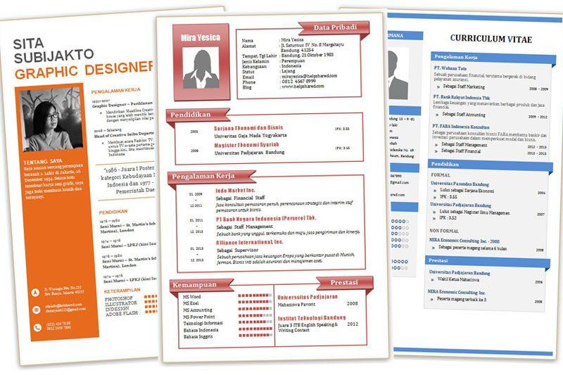 Contoh Cv Desain Menarik Dan Kreatif Format Doc Word Part 1 Cv Kreatif Riwayat Hidup Template