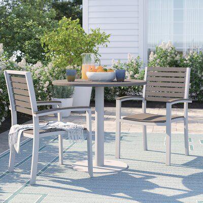 Sol 72 Outdoor Caspian 3 Piece Teak Bistro Set Outdoor Furniture