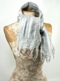 Recycled Sweater Felted Scarf