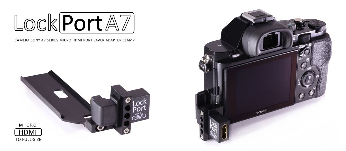 Afbeeldingsresultaat voor hdmi lock port a7s | Sony A7R iii