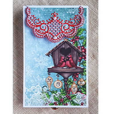 Holly Mini Album  project w/ Festive Holly collection from #HeartfeltCreations #Christmas