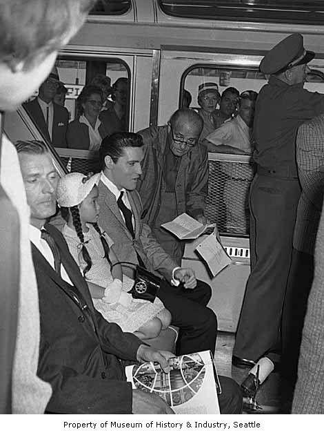 Elvis Riding Seattle S Monorail At The 1962 World S Fair Mohai