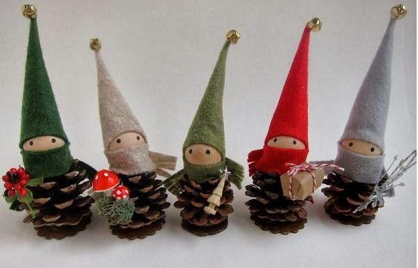 Manualidades Con Pinas Para Navidad Buscar Con Google - Manualidades-navideas-con-pias