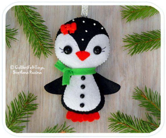 Penguin Cute Felt Christmas Ornaments Christmas