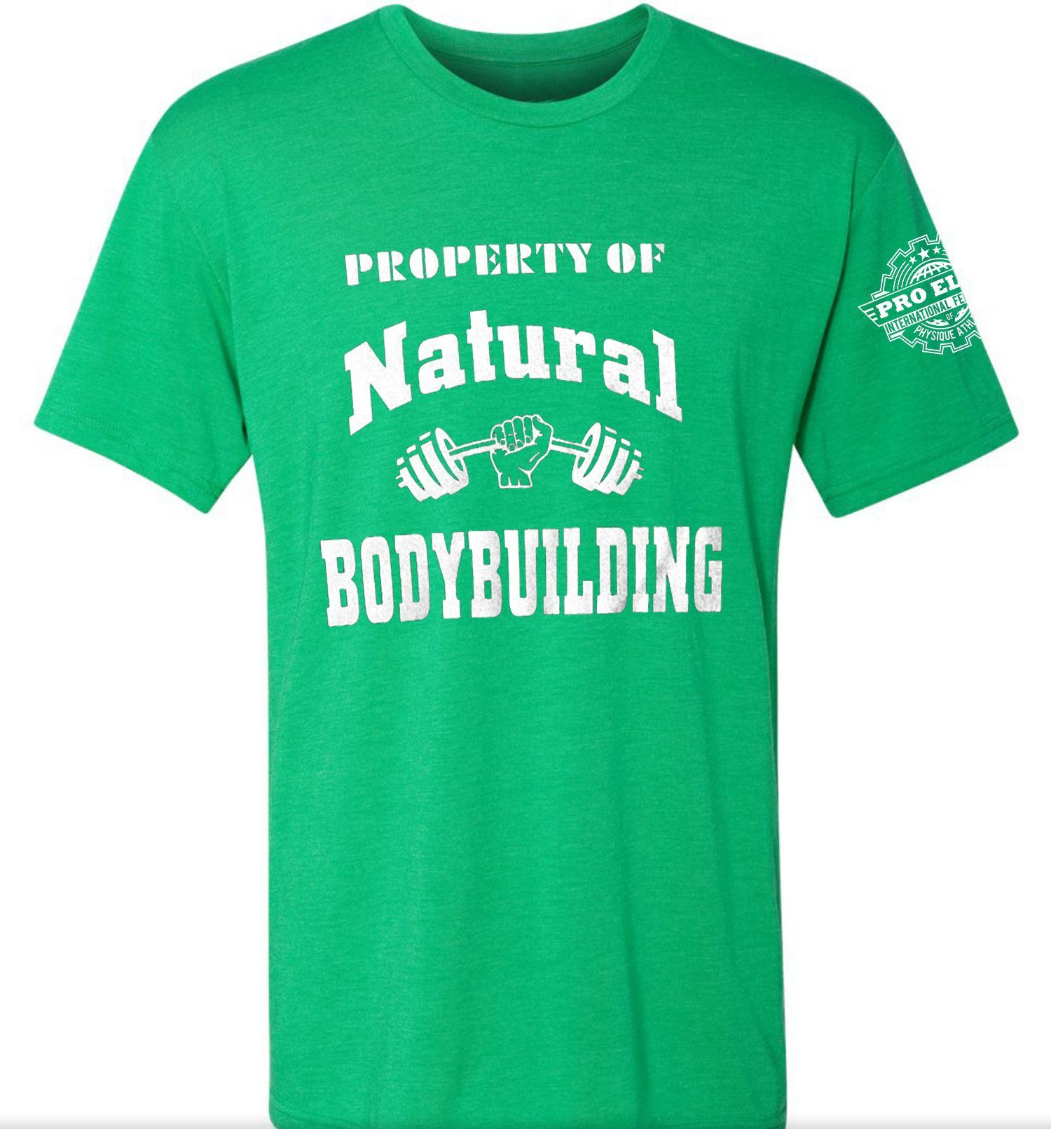 49b025dd0 Men's IFPAProElite Natural Bodybuilding T-Shirt - Green ...
