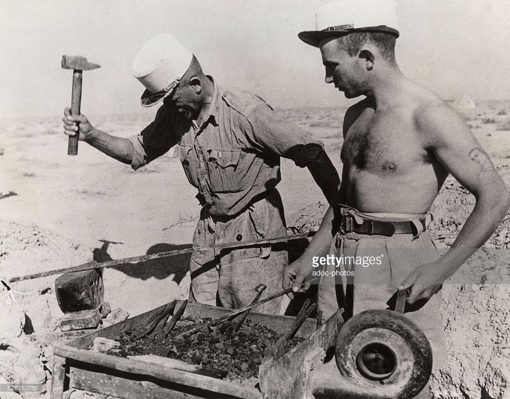 World war ii battle of bir hakeim lybia soldiers of - French div 2 ...