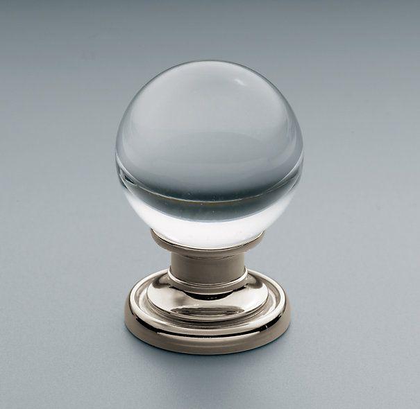 "Kitchen Cabinet Knob Location: Round Glass Knob 1"" Restoration Hardware For Cabinets In"