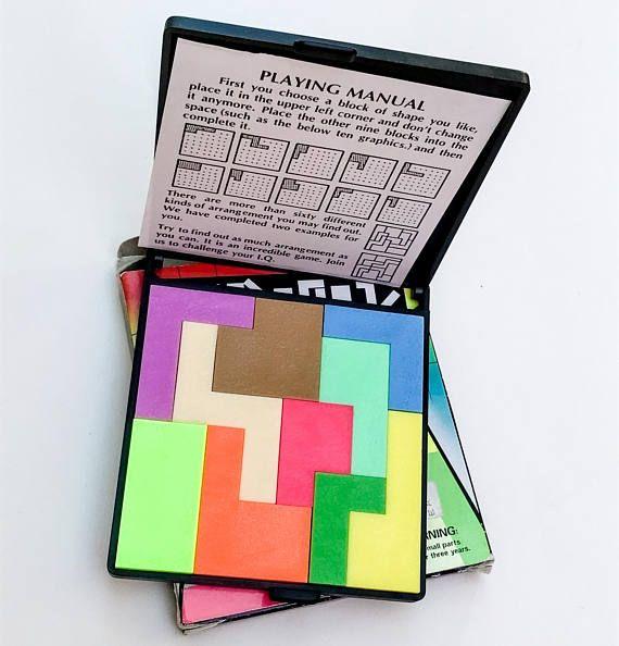 Vintage IQ Block Puzzle Game
